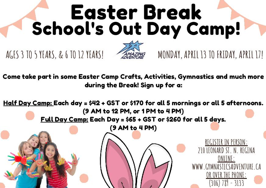 Easter Break Schools Out Daycamp